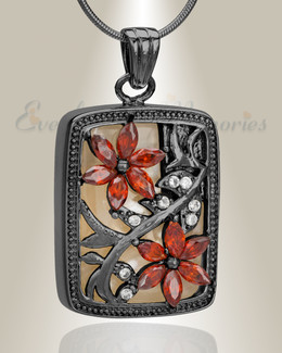 Black In Bloom Cremation Jewelry