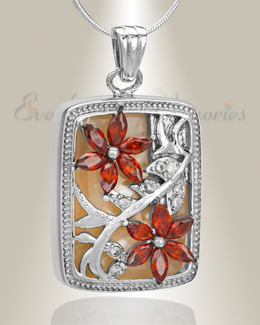 Sterling Silver In Bloom Cremation Jewelry