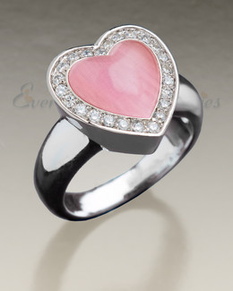 Silver Big Love Cremation Jewelry