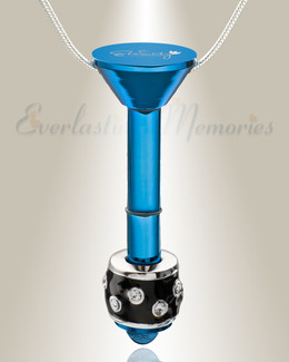 Blue Plated Millenium Ash Pendant with Refined Charm