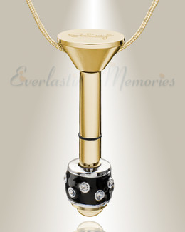 Gold Plated Millenium Ash Pendant with Refined Charm