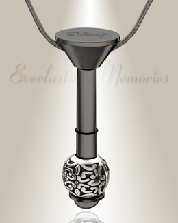 Black Plated Millenium Ash Pendant with Embellished Charm