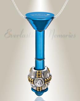 Blue Plated Millenium Ash Pendant with Ornate Charm
