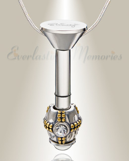 Silver Millenium Ash Pendant with Ornate Charm
