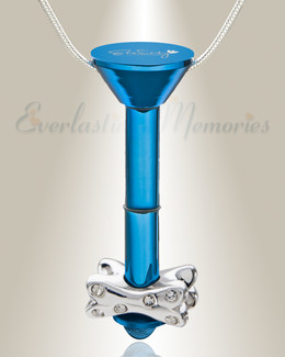 Blue Plated Millenium Ash Pendant with Fanciful Bone Charm