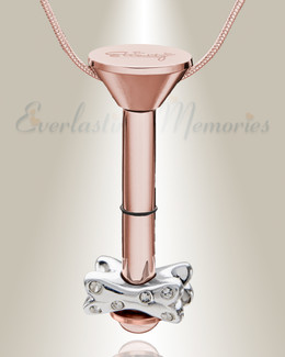 Rose Gold Plated Millenium Ash Pendant with Fanciful Bone Charm