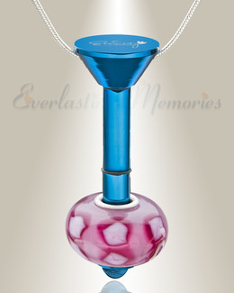 Blue Plated Millenium Ash Pendant with Blooming Charm