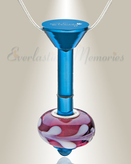 Blue Plated Millenium Ash Pendant with Romance Charm