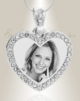 Photo engraved jewelry gem heart photo engraved stainless keepsake aloadofball Choice Image