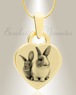 Small Heart Photo Engraved Gold Plated over Stainless Pet Keepsake