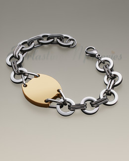 Stainless Gold Plated Valiant Bracelet Cremation Jewelry