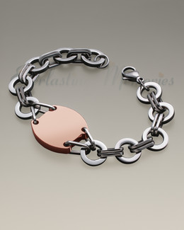 Stainless Rose Gold Plated Valiant Bracelet Cremation Jewelry