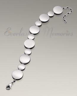 At Peace Satin Finish Bracelet Cremation Jewelry