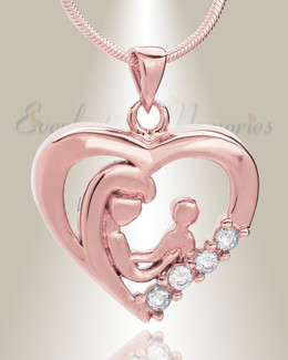 Rose Gold Nurturing Heart Memorial Jewelry