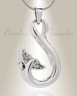Sterling Silver Whales Tail Memorial Jewelry