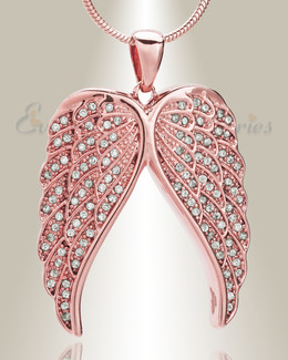 Rose Gold Spiritual Wings Memorial Jewelry