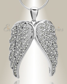 Sterling Spiritual Wings Memorial Jewelry