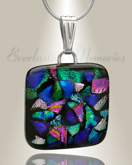 Colorful Square Memorial Jewelry