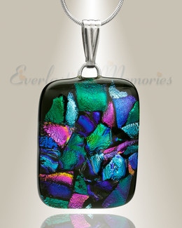 Colorful Rectangle Memorial Jewelry