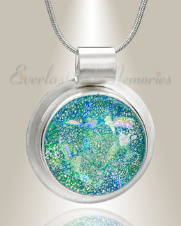 Silver Luminous Circle Memorial Jewelry