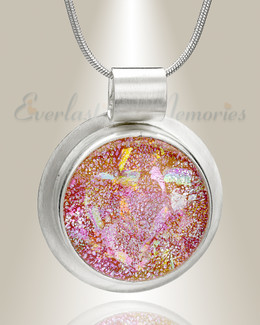Silver Blushing Circle Memorial Jewelry