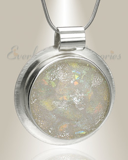 Large Silver Dreams Circle Memorial Jewelry