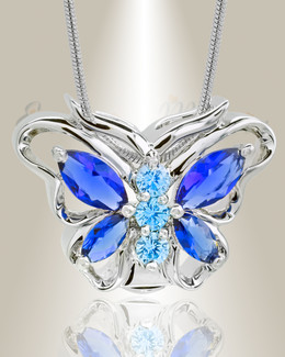 Sterling Silver Sparkle Butterfly Memorial Jewelry