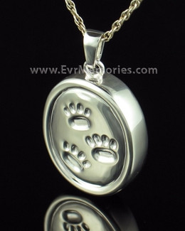 Sterling Silver Remember Me Oval Ash Pendant