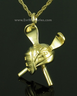 Gold Plated Lacrosse Memorial Jewelry