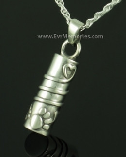 Sterling Silver Buddy Cylinder Pet Cremation Jewelry