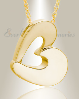 Gold Plated Fashion Heart Cremation Jewelry