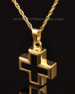 14K Gold Destiny Cross Urn Keepsake