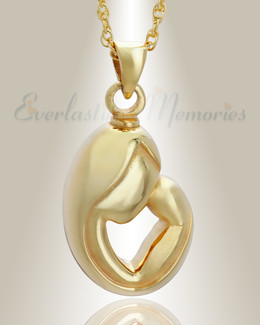 14K Gold Plated Mother's Touch Memorial Locket