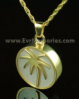 14K Gold Island Keepsake Cremation Jewelry