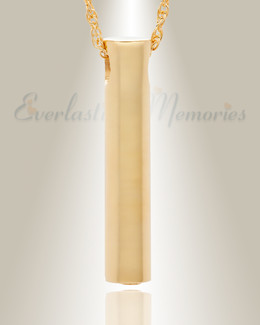 14K Gold Plated Marley Cylinder Funeral Jewelry