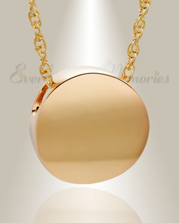 Gold Plated Beach Round Urn Necklace