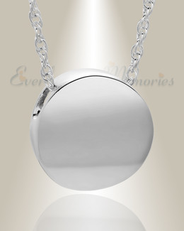 Silver Beach Round Urn Necklace