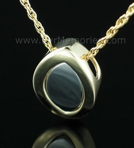 Silver & 14K Gold Plated Sliding Memorial Locket