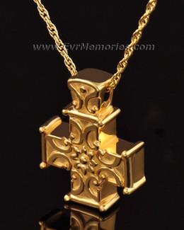 14K Gold Memory Cross Jewelry Urn