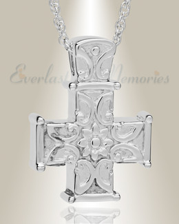 Silver Companion Memory Cross Funeral Jewelry