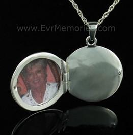 Silver Sophisticate Round Urn Keepsake