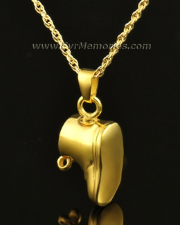 14K Gold Lil Booty Urn Necklace