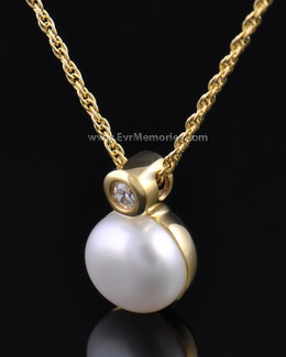 Gold Plated Pearl Memorial Locket