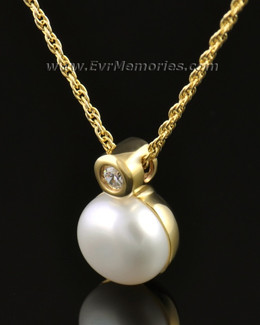 14K Gold Pearl Funeral Jewelry