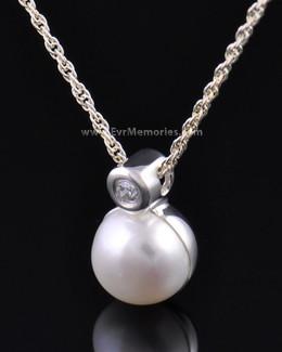 Silver Pearl Jewelry Urn