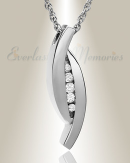 Everlasting Leaf 14K White Gold Memorial Locket