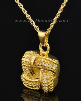 14K Gold Plated Interlace Funeral Jewelry