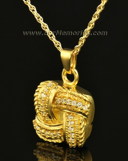 14K Gold Interlace Ash Locket