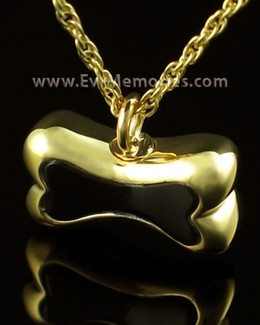 14K Gold Black Bone Cremains Jewelry