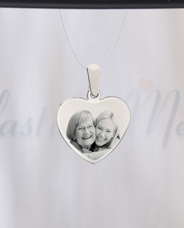 Heart Photo Engraved Stainless Guardian